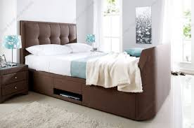 Super King Ottoman Storage Beds by Kaydian Windermere Cappucino Fabric Ottoman Storage Tv Bed