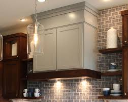 Ductless Stove Hood Kitchen Tile Backsplash Also Wall Mounted Cabinet Also Wood Vent