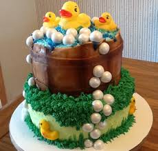 duck baby shower cake by cubby cakes