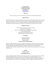 Flight Attendant Resume Samples by Generic Corporate Flight Attendant Resume