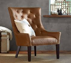 Sale Armchair Hayes Tufted Leather Armchair Pottery Barn