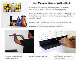 Peg Board Shelves by Wallpeg Metal Shelves Mount To Wall Or Pegboard Panel Wallpeg Store