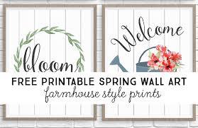 cheap printable wall art 5 printable spring wall art farmhouse style prints fun loving