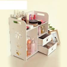 2017 europe organizador cosmetics wooden storage box diy makeup organizer eco friendly glossy rectangle waterproof