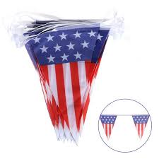 4th Of July Bunting Decorations Aliexpress Com Buy Plastic 4th Of July American Flag Party