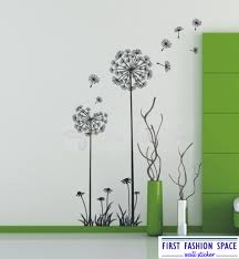 aliexpress com buy modern dandelion flowers nature wall decals aliexpress com buy modern dandelion flowers nature wall decals vinyl art mural wall stickers for living room home decor 75x145cm drop shipping from