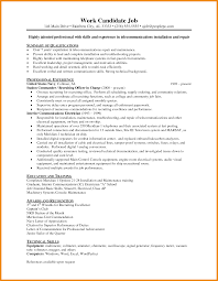 Art Resumes Electrician Resume Art Resume Examples