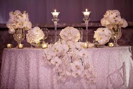 sweetheart table decor white orchid sweetheart table fashionable hostess fashionable