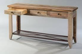 6 inch deep console table hoot judkins pine rustic sofa table drawers and iron mesh shelf