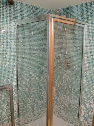 glass tile for bathrooms ideas corner shower box decor with mosaic blue ceramic glass tile