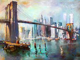 nyc painting ny city brooklyn bridge ii by ylli haruni