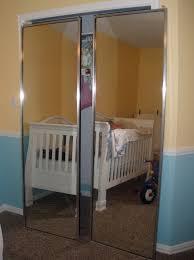Mirrored Bifold Closet Doors Home Depot Mirrored Bifold Closet Doors Without Bottom Track Home Design Ideas