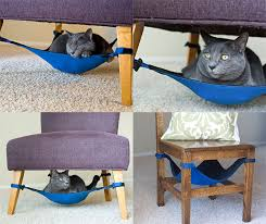 the catcrib a hammock under any chair for your cat doobybrain com