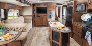 rv kitchen island kitchen islands decoration 2016 white hawk travel trailer jayco inc strong the perfect place to gather strong the kitchen island layout