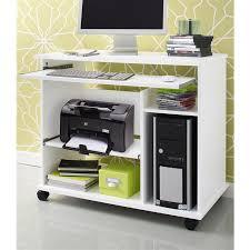 bureau avec tablette coulissante bureau console informatique à roulettes avec tablette coulissante