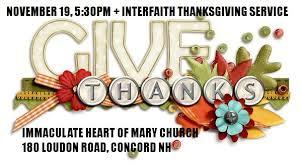 nov 19 thanksgiving interfaith celebration new hshire council