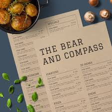 the bear u0026 compass a rustic menu design with a modern twist