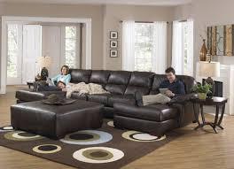 Leather U Shaped Sofa Sofa With Chaise Lounge Dark Brown Leather U Shaped Sofas With