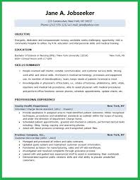 Nursing Job Resume Format by Amazing Ideas Nursing Student Resume Template 1 Example Student