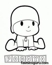 main characters cartoon pocoyo coloring pages printable coloring