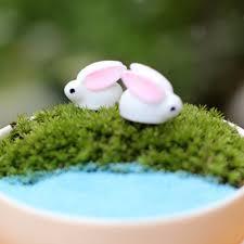 micro landscape world bunny garden ornaments mini bunny