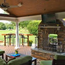 Outdoor Fireplace Outdoor Fireplaces In Kentucky By American Deck U0026 Sunroom