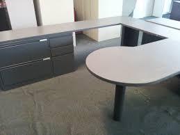 U Shaped Table Legs Meridian U Shaped Desk Used Desks Narrow Tables Hutch Oak Person
