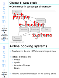 e commerce in passenger air transport e commerce airlines