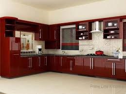 Kitchen Red Cabinets Kitchen Red Kitchen Cabinets And Stainless Steel Kitchen Sink