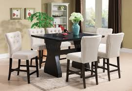 effie counter height table by acme w optional beige chairs