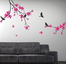 Stick On Wall Buy Cherry Blossom Tree Wall Decal Tree Branch With Birds Stick On