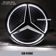 mercedes car emblem mercedes front grille logo led light badge light auto led