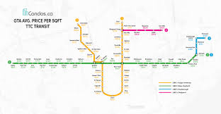 Ttc Subway Map by The Value Of Price Per Square Foot Analysis Condos Ca Blog