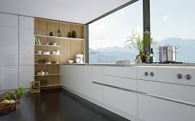 White Kitchen Cabinets Doors Cabinets U0026 Drawer Contemporary Glossy White Kitchen Design Chrome