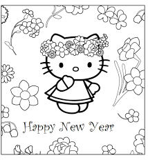 printable card kitty coloring pages kitty