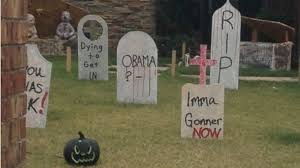 tombstone decorations won t take obama tombstone abc news