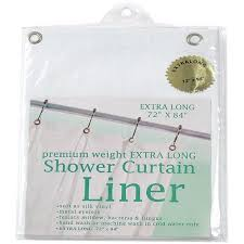 Carnation Home Cleaning Carnation Home Fashions Extra Long Vinyl Shower Curtain Liner