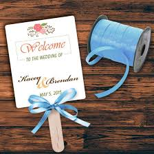 make your own wedding fan programs 5 simple steps to make a wedding program fan on your own