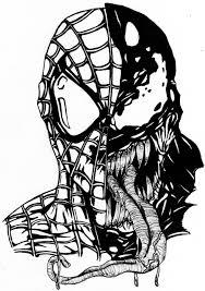 venom spiderman symbol drawing
