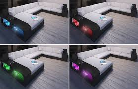 Led Outdoor Furniture - wicker patio sofa houston l with led
