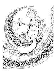 cat sitting on the moon by aleoo whiter on deviantart
