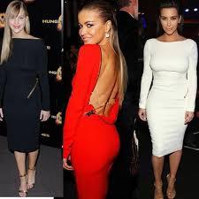 fashion kim kardashian dress elegant evening dresses 2016