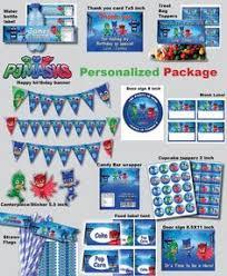 pj masks package printable pj masks birthday pj masks kit