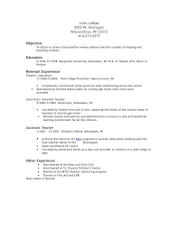 Substitute Teacher Resume Examples by Preschool Assistant Teacher Resume Best Resume Collection