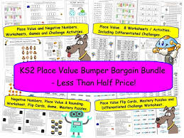 y6 place value rounding and negative numbers differentiated