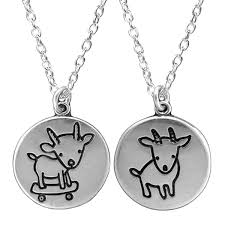 round sterling silver necklace images Silver skateboarding goat necklace jpg