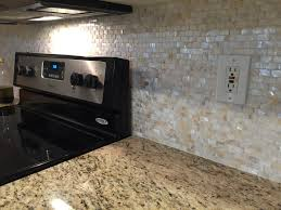 Brick Kitchen Backsplash by Cream Brick Pearl Shell Tile Kitchen Backsplash Renovation