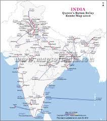 map of baton baton relay route map