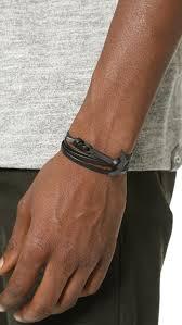 leather wrap anchor bracelet images Lyst miansai modern anchor leather wrap bracelet in black for men jpeg