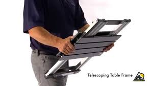 Telescoping Table Compact Camp Table 20 By Gci Outdoor Youtube
